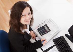 Portrait Of Happy Businesswoman