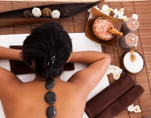 Young Woman Relaxing In A Spa Treatment